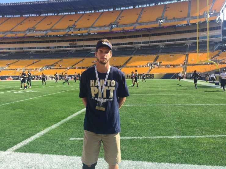 2017 Pitt commit Kyle Nunn at Heinz Field for Pitt-Penn State