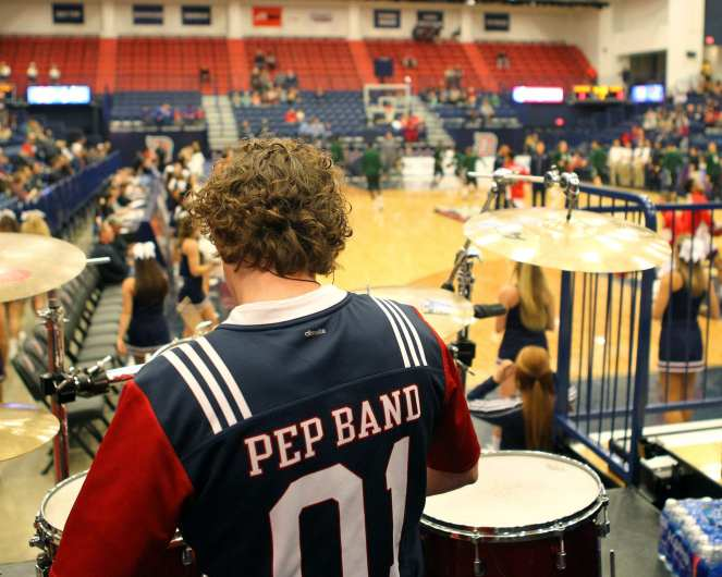 Duquesne Pep Band November 11, 2016 (Photo by: David Hague)