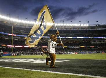 The Northwestern Wildcats defeated the Pittsburgh Panthers 31-24 in the 2016 New Era Pinstripe Bowl at Yankee Stadium on Wednesday, December 28, 2016.