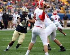 James Folston Jr tries to get to YSU quarterback September 2, 2017 -- David Hague