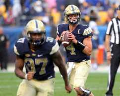 Max Browne drops back for a pass in the fourth quarter September 2, 2017 -- David Hague