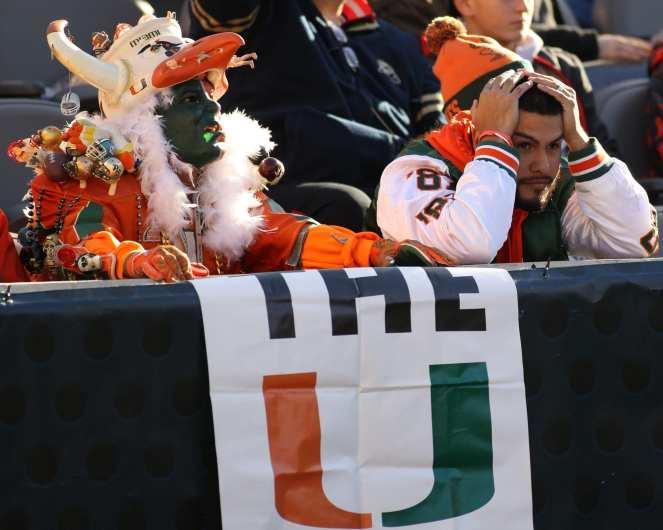 Sad Miami Fan November 24, 2017 -- DAVID HAGUE/PSN