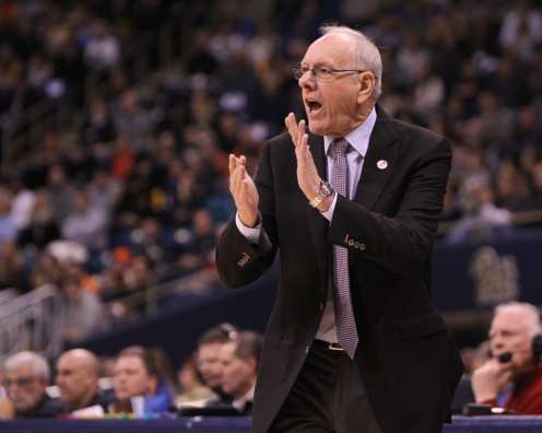 Syracuse head coach Jim Boeheim on January 27, 2018 -- DAVID HAGUE