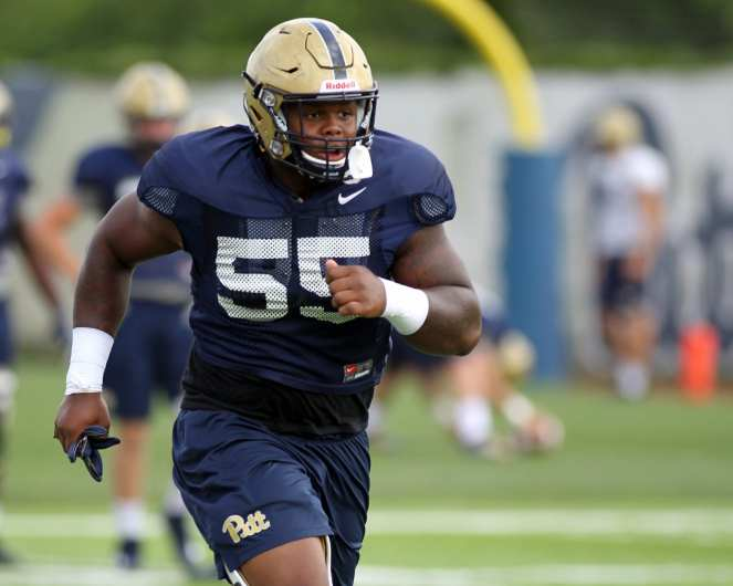 Jaylen Twyman (55) Practice August 17, 2018 -- DAVID HAGUE