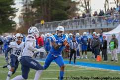 November, 17, 2018, New Britian, Connecticut, United States: during a NEC conference matchup between Duquesne at CCSU at Arute Field won by the Dukes 38-31. Photo by © Brian Foley