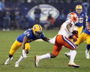 Phil Campbell III (24) in the ACC Championship Game December 1, 2018 -- David Hague/PSN