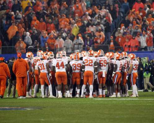 Clemson in the ACC Championship Game December 1, 2018 -- David Hague/PSN
