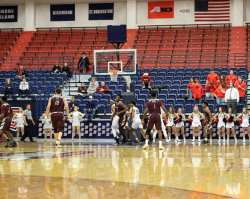 Duquesne Basketball with empty seats December 22, 2018 -- David Hague/PSN