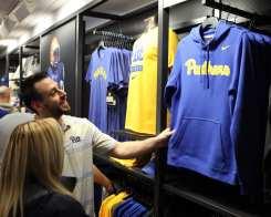 Fans check out The Pitt Shop April 7, 2019 -- David Hague/PSN