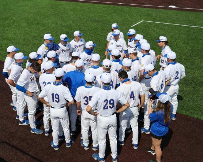 Pitt Baseball Team April 6, 2021 Photo by David Hague/PSN