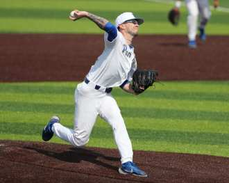 Chris Gomez (34) Pitt Baseball April 6, 2021 Photo by David Hague/PSN