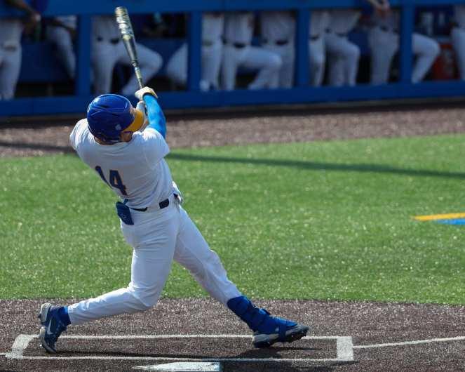 Jackson Phinney (14) Pitt Baseball April 6, 2021 Photo by David Hague/PSN