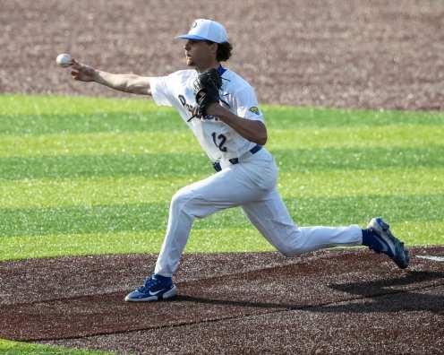 Chase Smith (12) Pitt Baseball April 6, 2021 Photo by David Hague/PSN