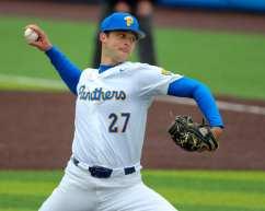 Mitch Myers (27) Pitt Baseball April 17, 2021 Photo by David Hague/PSN