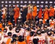 Clemson celebrates victory December 1, 2018 -- David Hague/PSN