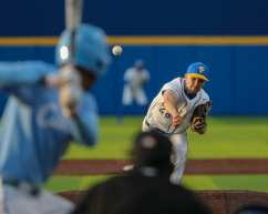 Jordan McCrum (28) Pitt Baseball April 17, 2021 Photo by David Hague/PSN