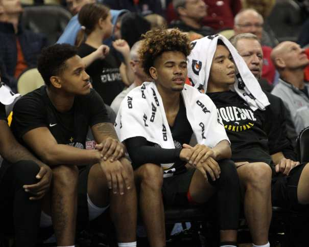 Duquesne Bench December 19, 2018 -- David Hague/PSN