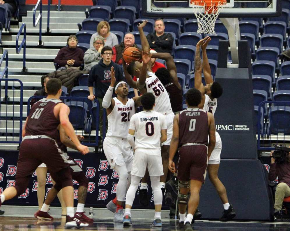Eric Williams Jr. (50) called for foul late in the game December 22, 2018 -- David Hague/PSN