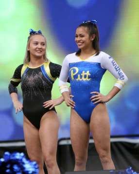 Pitt Gymnastics April 7, 2019 -- David Hague/PSN