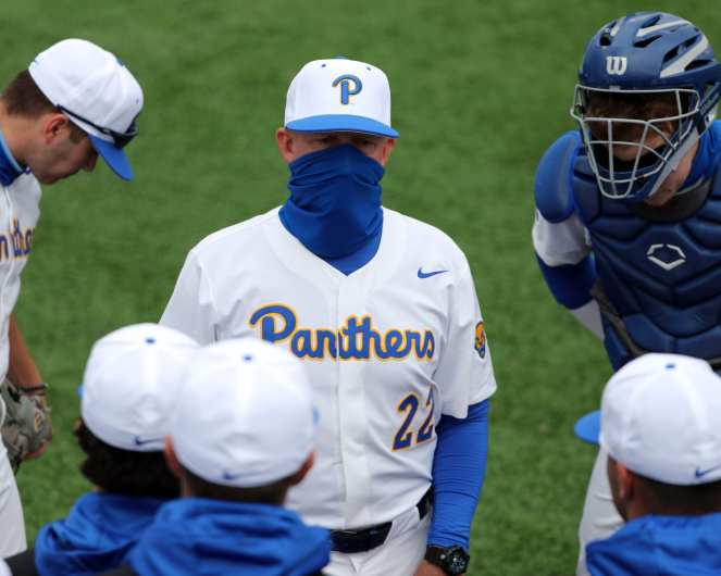Coach Pitt Baseball March 26, 2021 - Photo by David Hague/PSN