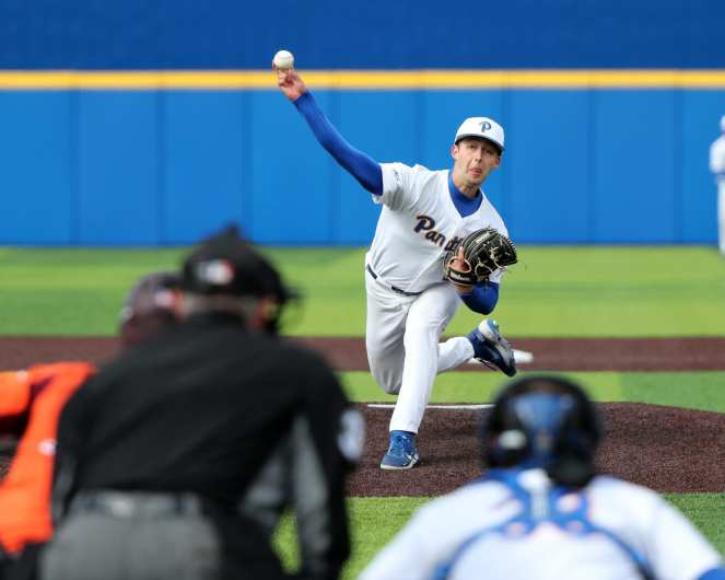 Mitch Myers (27) Pitt Baseball March 26, 2021 - Photo by David Hague/PSN