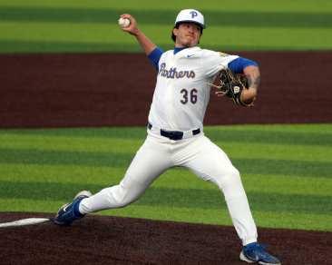 Dylan Lester (36) Pitt Baseball March 26, 2021 - Photo by David Hague/PSN