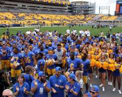 Pitt Football after their win over Ohio September 7, 2019 Photo By David Hague/PSN