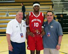 Ngonadi Olisa (10) wins MVP for team USA in the PBC Roundball Classic April 28, 2019 -- David Hague/PSN
