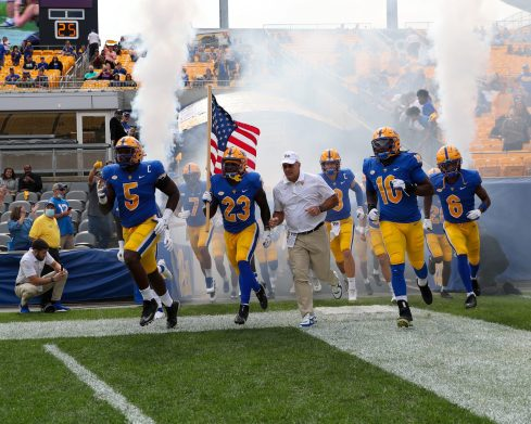 Pitt takes the field for game vs UNH - September 25, 2021 David Hague/PSN