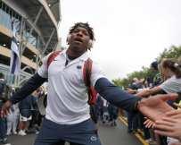 Penn State DB Lamont Wade Arrives September 14, 2019 -- David Hague/PSN