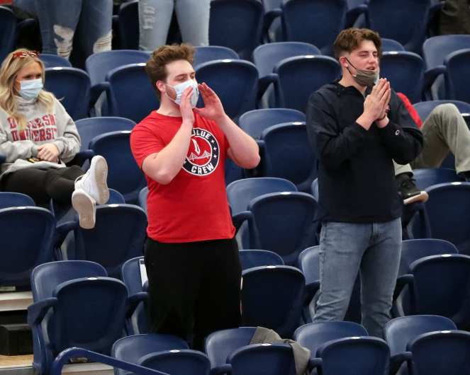 Duquesne Fans February 2, 2021 Photo by David Hague/PSN
