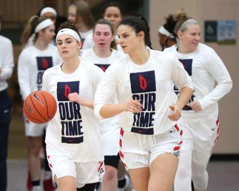 Duquesne Women's Team takes the court March 3, 2020 - David Hague/PSN
