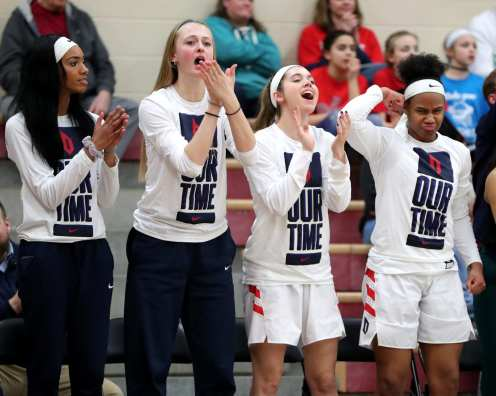 Duquesne women's team March 3, 2020 - David Hague/PSN