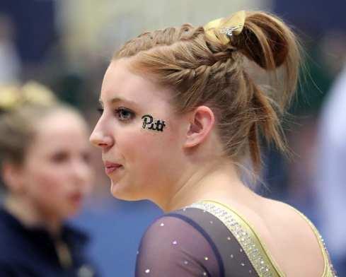 Kirsta Collins Pitt Gymnastics January 12, 2019 -- David Hague/PSN