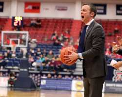 University of Massachusetts Head Coach Matt McCall March 2, 2019 -- David Hague/PSN