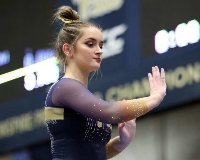 Kiley Robatin Pitt Gymnastics January 12, 2019 -- David Hague/PSN