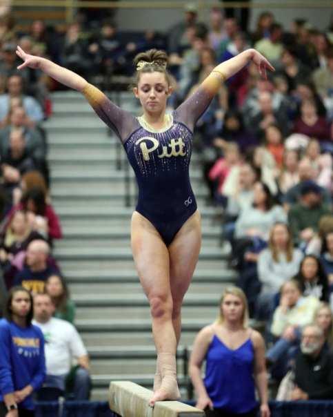 Lucy Brett Pitt Gymnastics January 12, 2019 -- David Hague/PSN