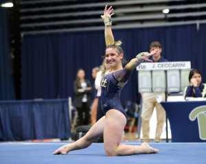 Jordan Ceccarini Pitt Gymnastics January 12, 2019 -- David Hague/PSN