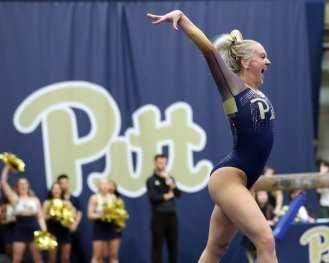 Alecia Petrikis Pitt Gymnastics January 12, 2019 -- David Hague/PSN