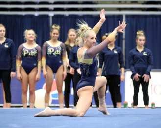 Charli Spivey Pitt Gymnastics January 12, 2019 -- David Hague/PSN