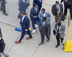 Players as they enter Heinz Field November 30, 2019 -- David Hague/PSN