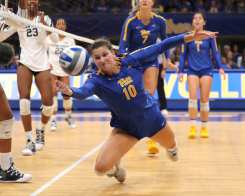 Zoi Faki (10) for Pitt Volleyball September 22, 2019 -- David Hague/PSN