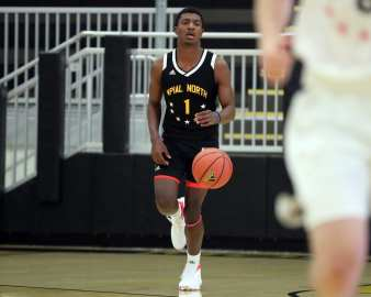 William Gipson (1) in the PBC Roundball Classic April 28, 2019 -- David Hague/PSN