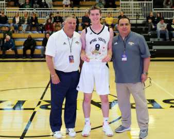 WPIAL South MVP Joe Pipilo (8) in the PBC Roundball Classic April 28, 2019 -- David Hague/PSN