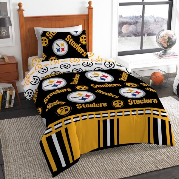 Pittsburgh Steelers Northwest Company 4-piece Twin Bed
