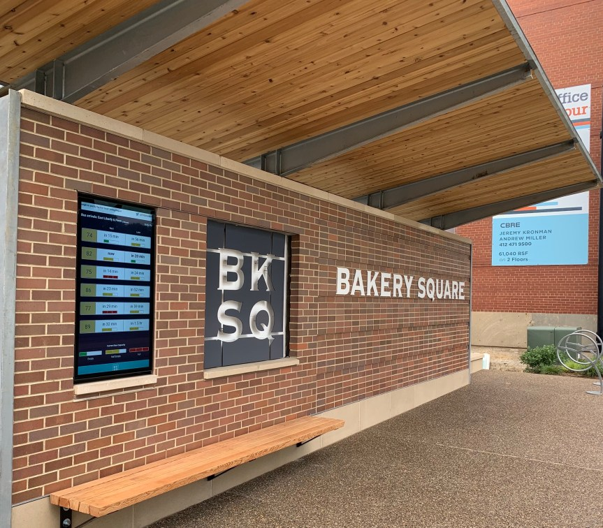 New Bus Shelter at Bakery Square