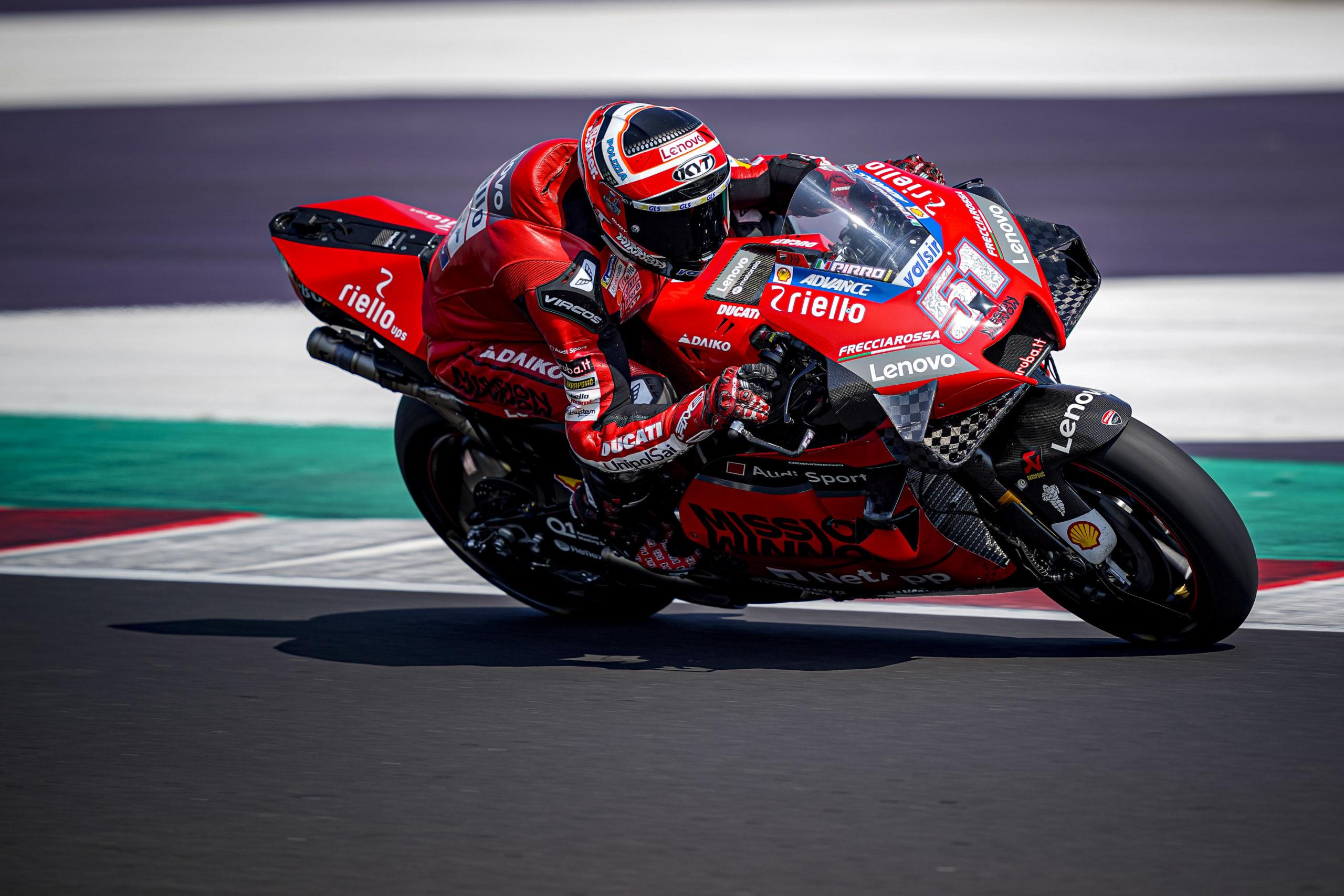 Michele Pirro, Misano test 2020, Ducati
