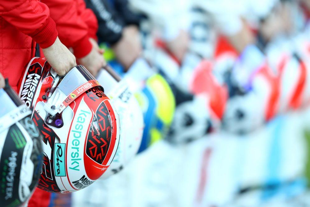 Cascos de los pilotos/F1