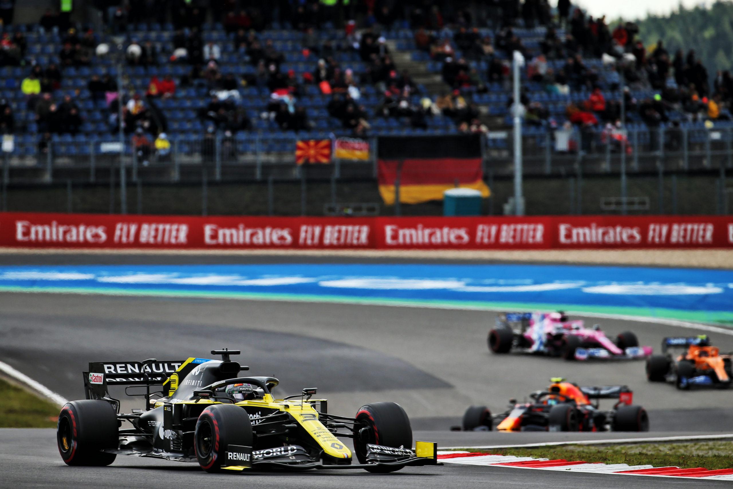 Daniel Ricciardo (AUS) Renault F1 Team RS20. Eifel Grand Prix, Sunday 11th October 2020. Nurbugring, Germany.