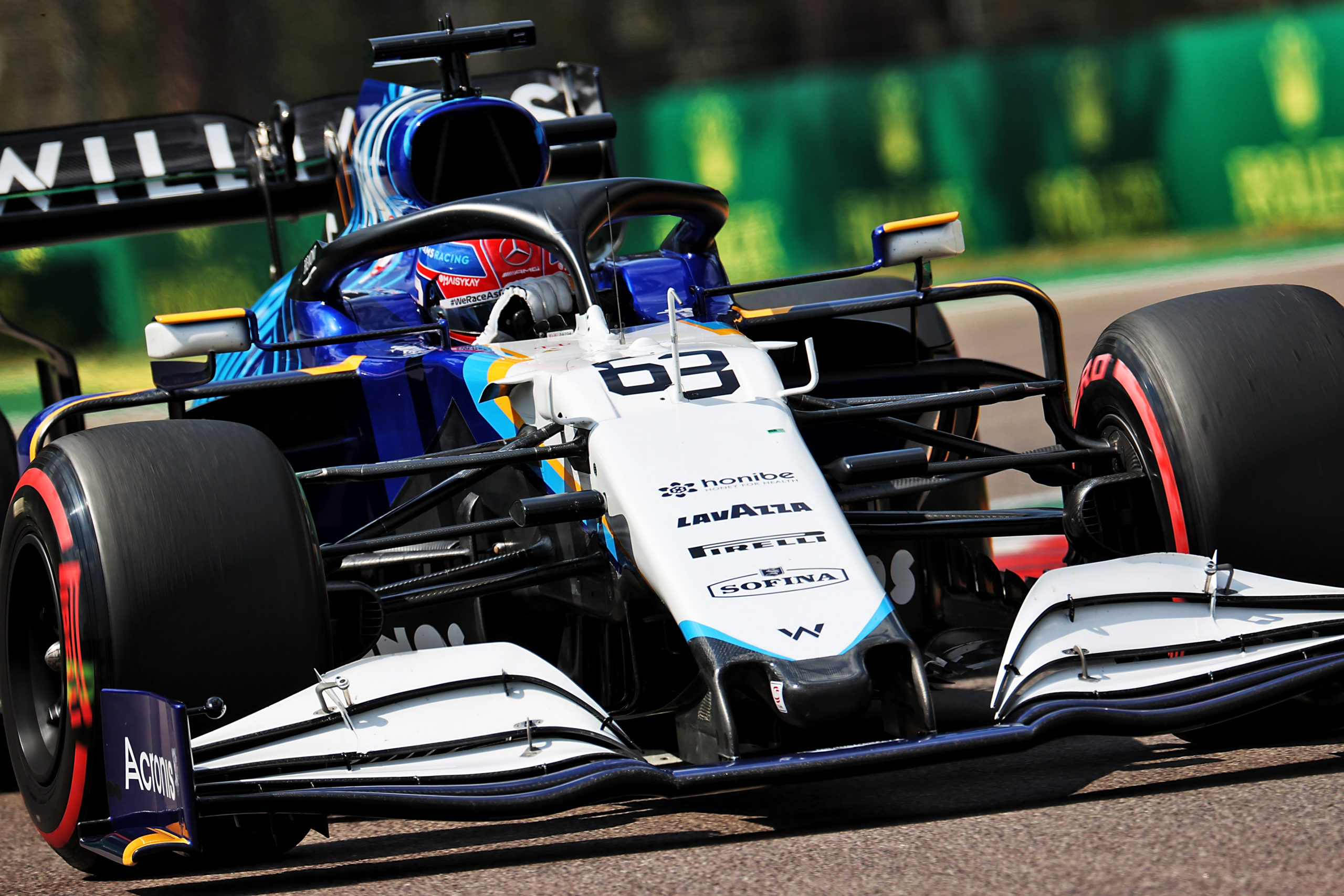 George Russell, Williams Racing FW43B, 2021 Emilia Romagna Grand Prix, Imola, Saturday